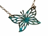 Copper Necklace Butterfly