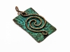 Copper Wire Spiral Pendants - Spiral 9-1
