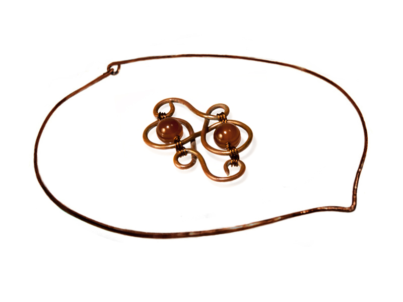 Freeform Copper Abstract Loops