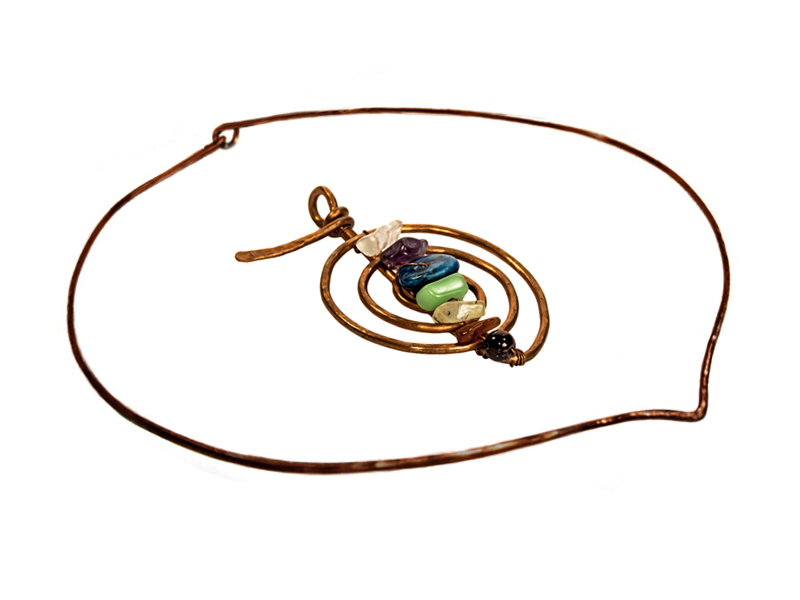 Copper Wire Choku-Rei Pendant