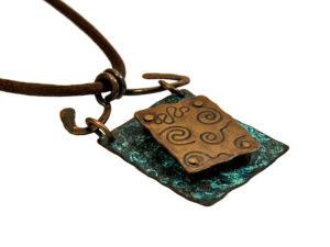 Copper Necklaces Riveted